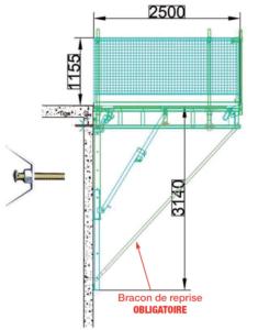 schema recette a materiaux pour stockage en hauteur