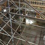 Renovation d'une chapelle - protection des planchers anciens en bois