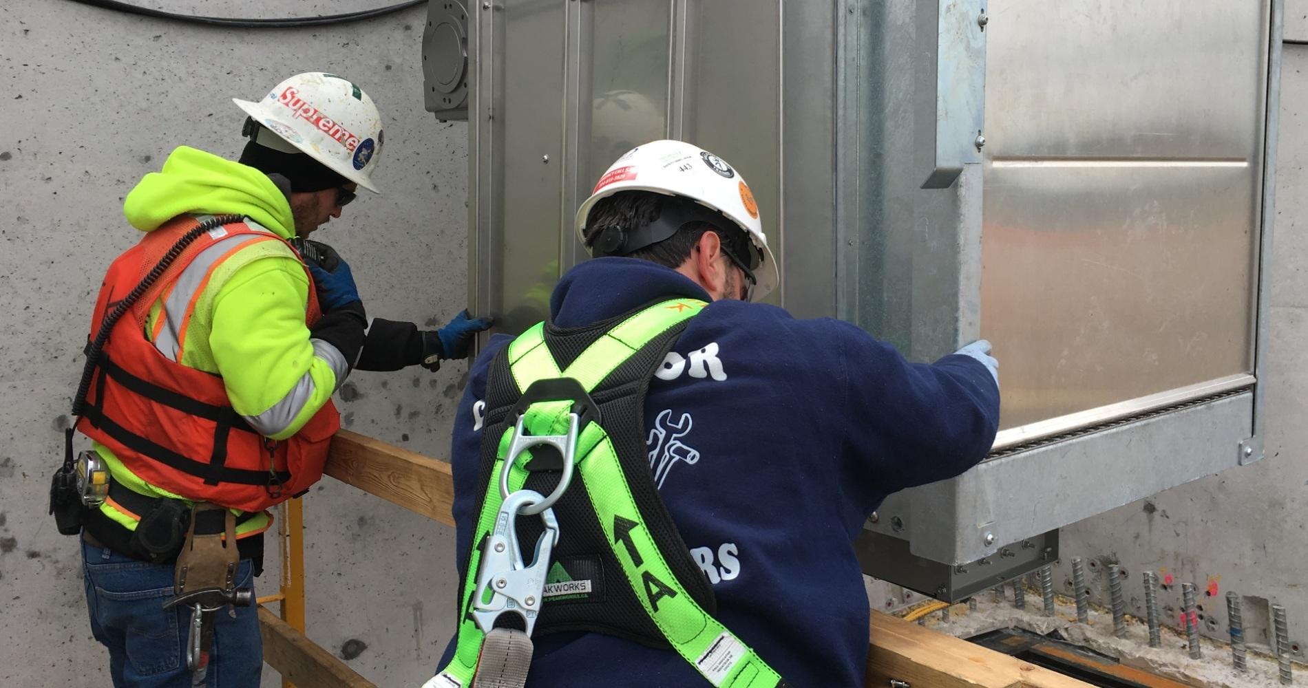 Nos services Omnilux : installation et démontage par une équipe qualifiée